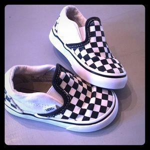 Checkerboard Vans Toddler size 5